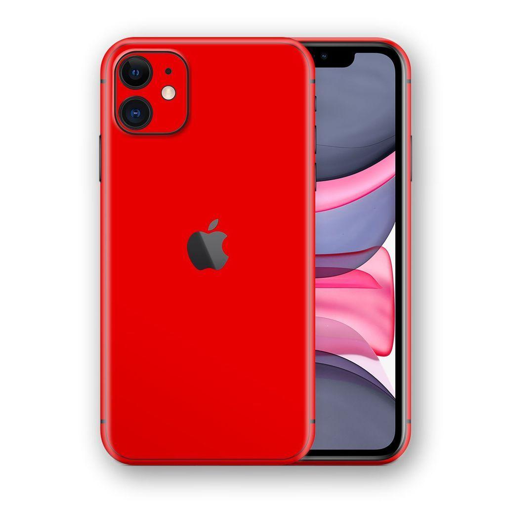 Iphone 11 Red Matt Skin Forros Para Celulares Carcasas Iphone