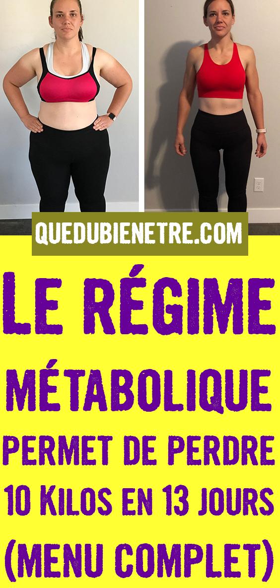 Le régime métabolique permet de perdre 10 Kilos en 13 ...