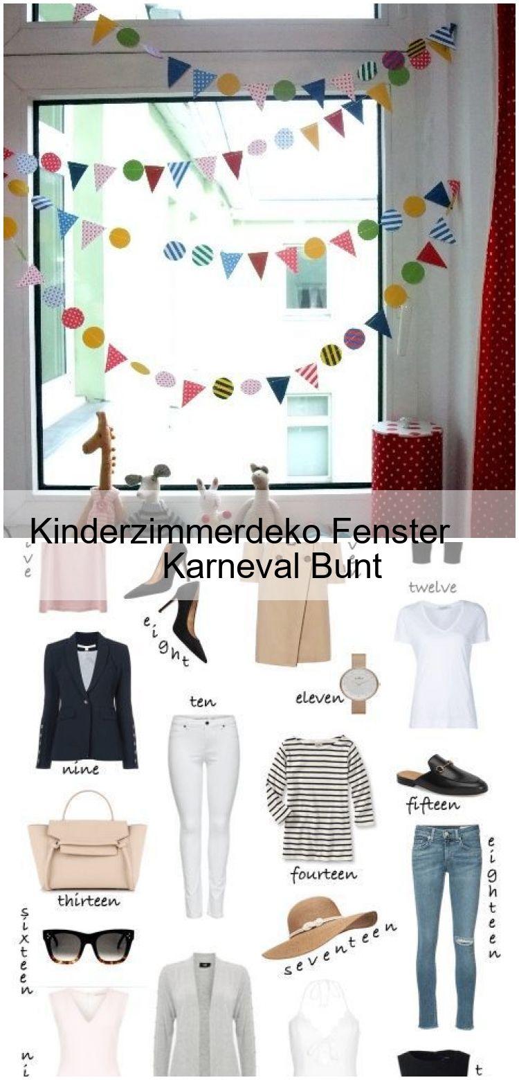 Kinderzimmerdeko Fenster Karneval Bunt