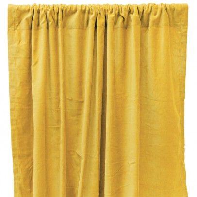 Verdunkelnde Vorhang aus Baumwolle Velours - gelb | Liv, Vorhänge ...