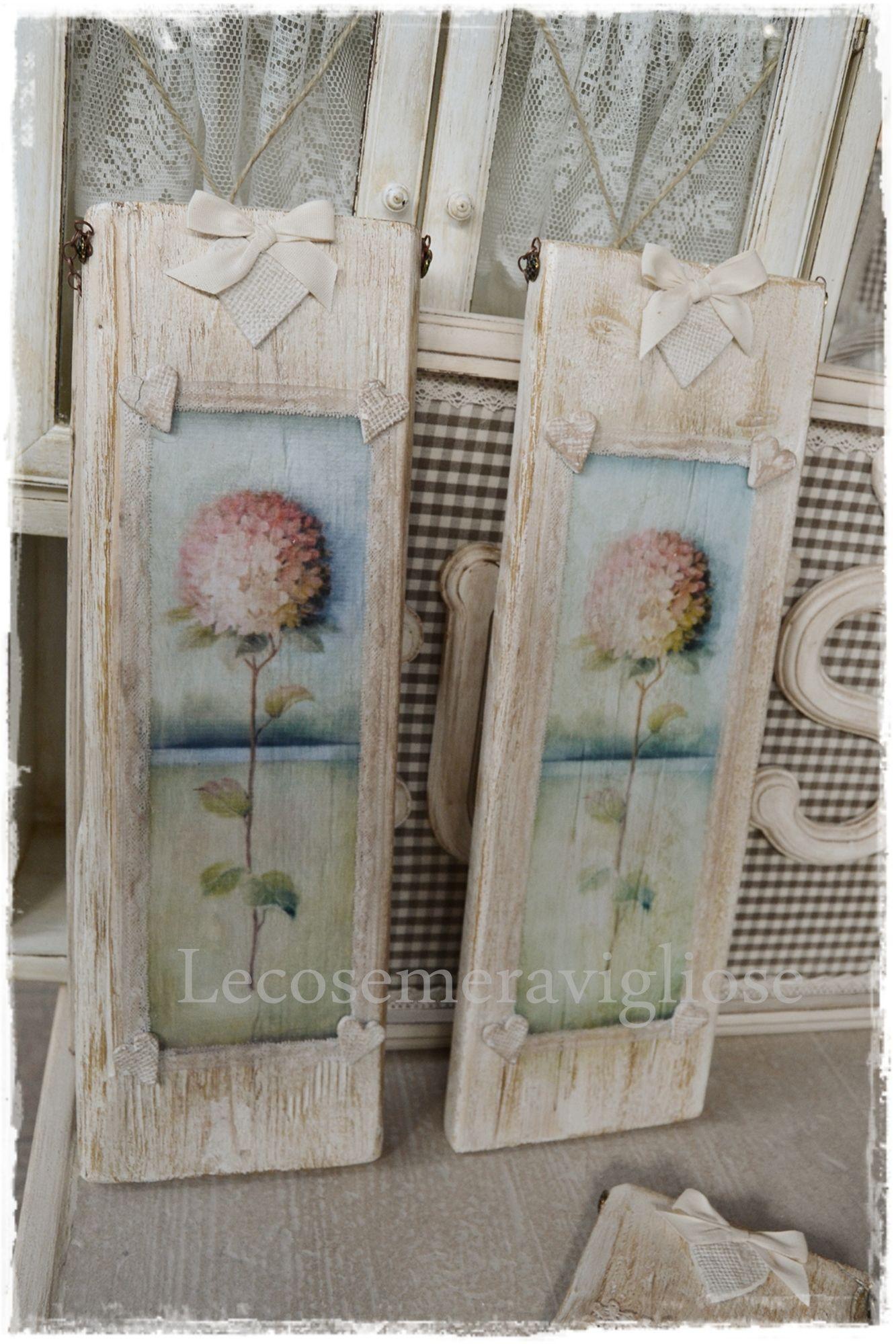 Quadri in legno fai da te quadri portafoto e decorazioni for Cornici per quadri shabby chic