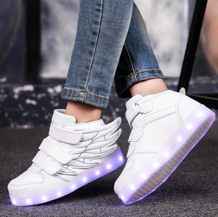Shoes Men's Casual Shoes Self-Conscious Led Light Casual Shoes Couple Lace-up Casual Shoes Colorful Flash Sshoes Breathable Sneakers New Arrivals A Wide Selection Of Colours And Designs