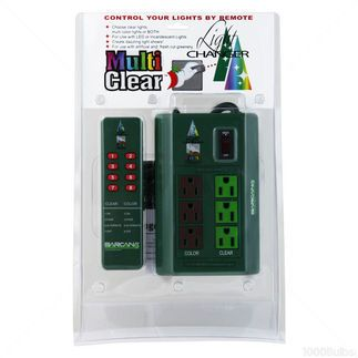 Light Changer Remote Controlled Outlet Box For Clear And Multi Color Christmas Tree Lights