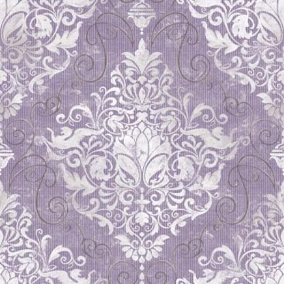 The Wallpaper Company 56 sq. ft. Chandeliere Damask Red