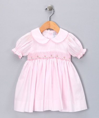 Take a look at this Pink Smocked Rose Dress - Infant & Toddler by Fantaisie Kids on #zulily today!
