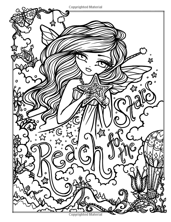 Amazonsmile I Dream In Color An Inspirational Journey Coloring Book 9780692830772 Hannah Fairy Coloring Pages Cute Coloring Pages Detailed Coloring Pages