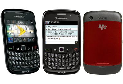 The Curve 8530 runs BlackBerry OS 5 on a 512MHz processor with 256MB