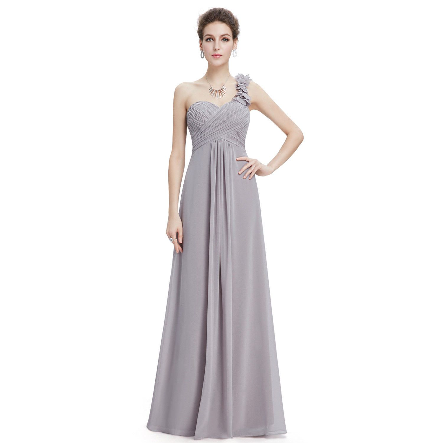 Nice amazing everpretty oneshoulder long bridesmaid dresses ball