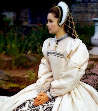 Anne Boleyn (Geneviève Bujold) in Anne of the Thousand Days, 1969