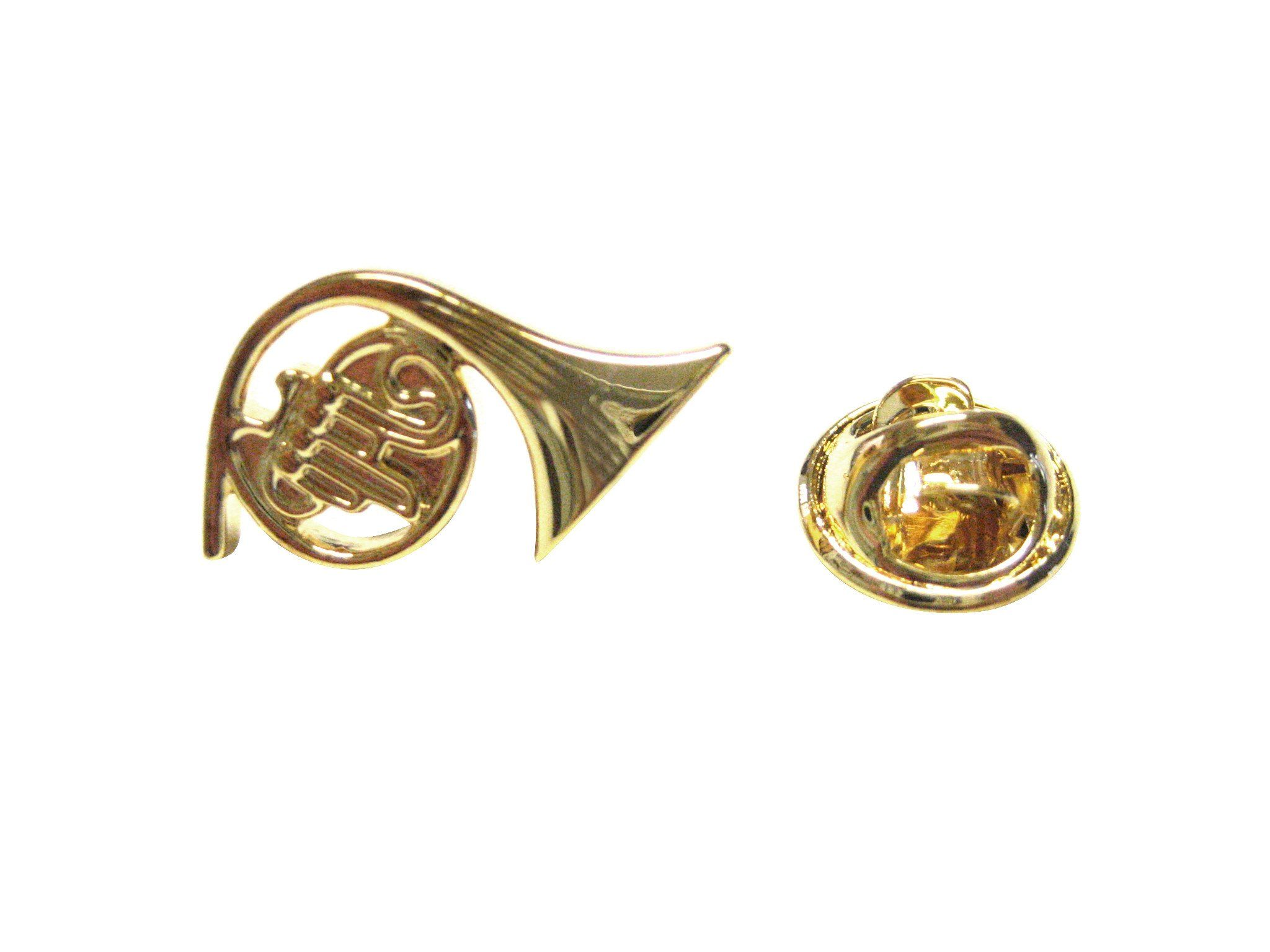French Horn Musical Instrument Lapel Pin