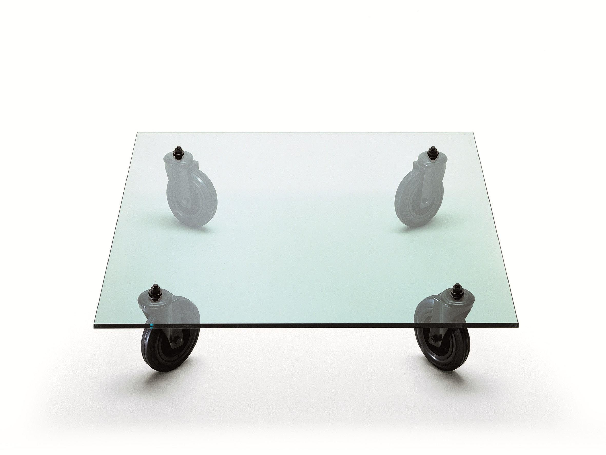 Superior Glass Coffee Table With Wheels