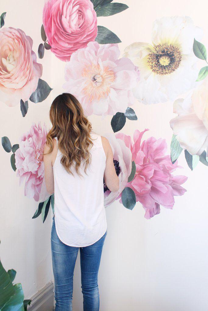 Pastel Garden Flowers Wall Decals Flower Wall Decals Floral Nursery Flower Wall