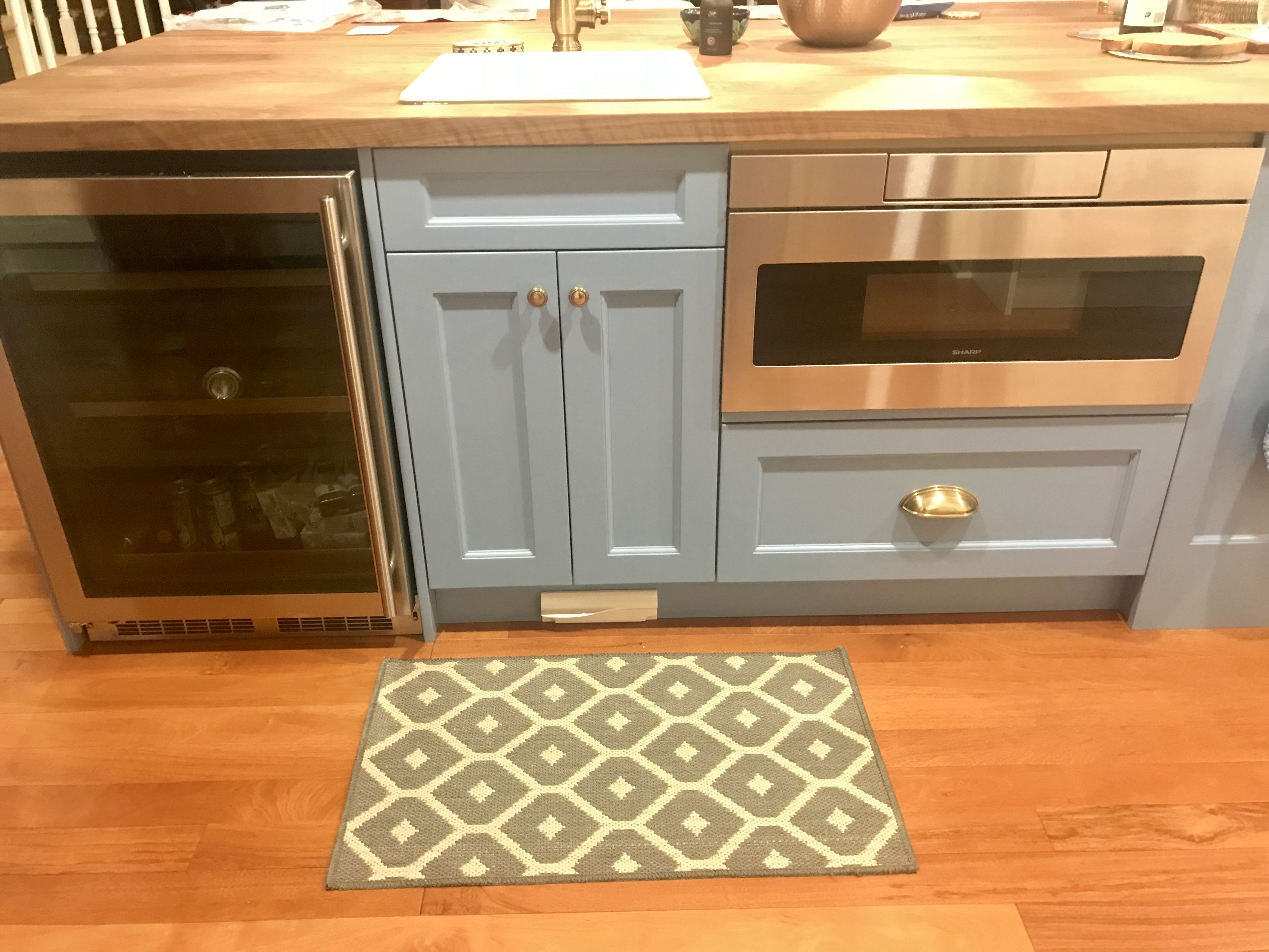 Wine Fridge And Drawer Microwave In The Island Kitchen Island With Sink Kitchen Wine Fridge Home Kitchens