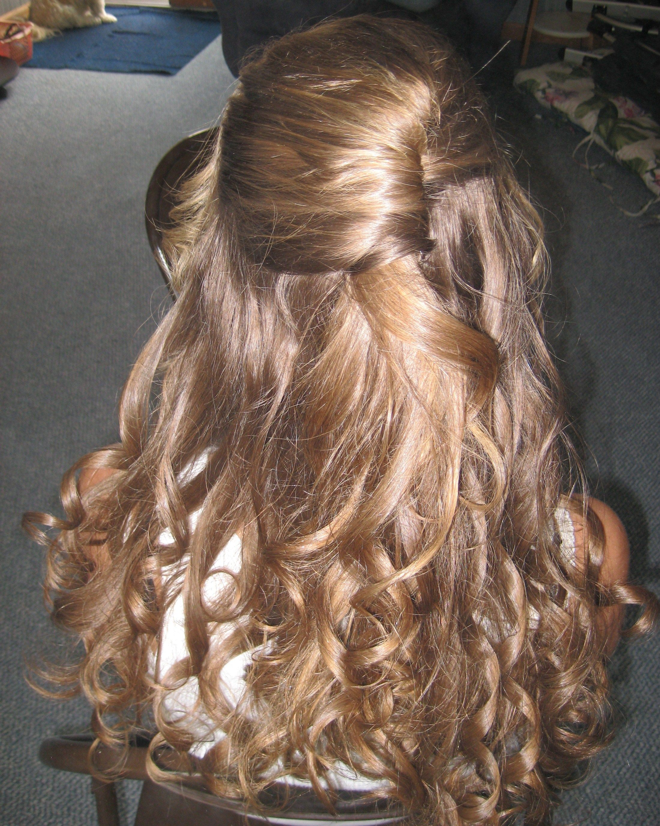Formal hair. Super easy, curl, set, twist and pin ...