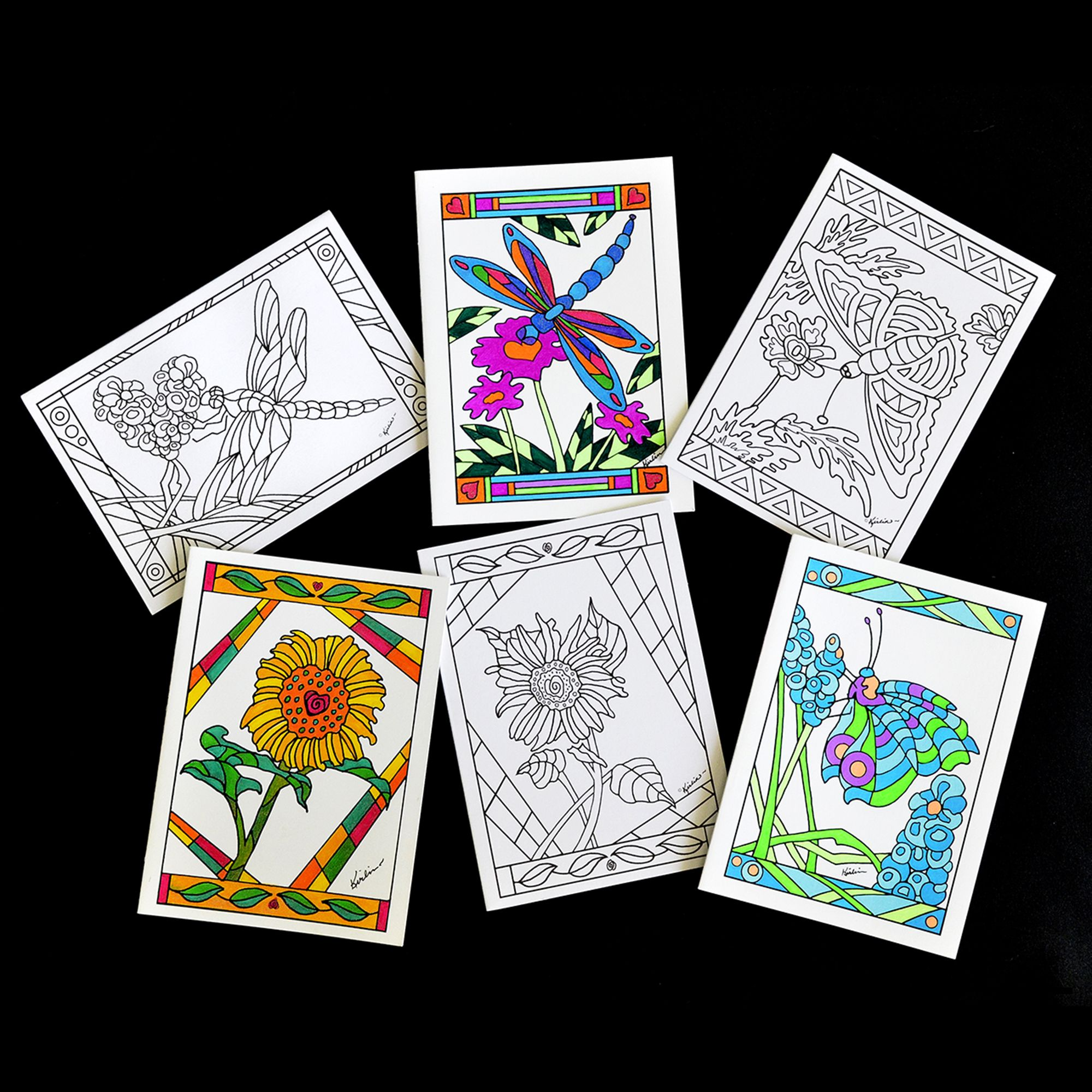 See what you can do with our Adult Coloring Greeting Cards. Six of ...