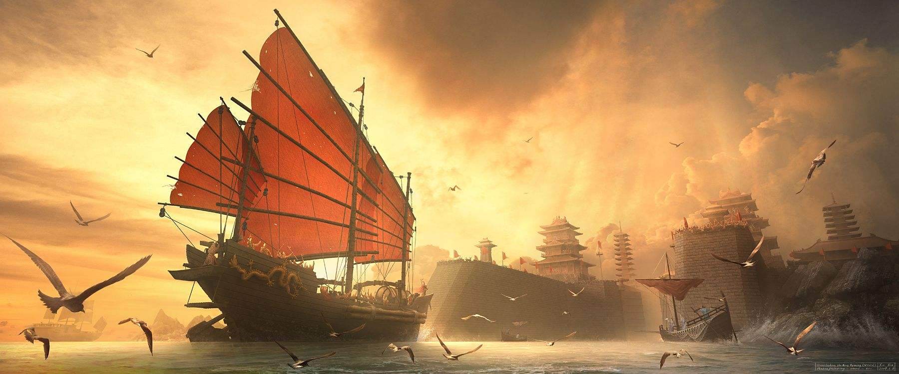 Boat Art Sailing Ships Fantasy Pictures