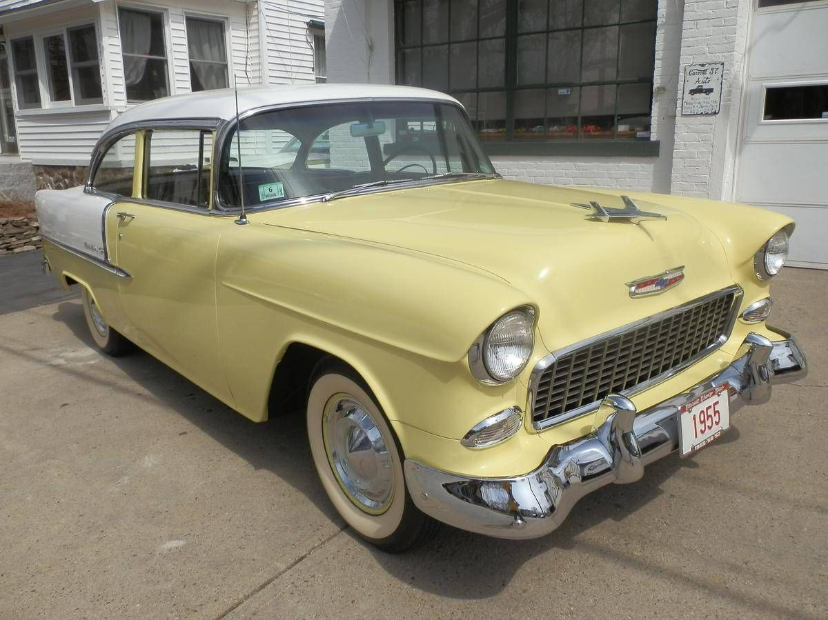 All Chevy 55 chevy for sale cheap : 55 Chevy Bel Air. White wall tires. Pale yellow and white. Grandma ...