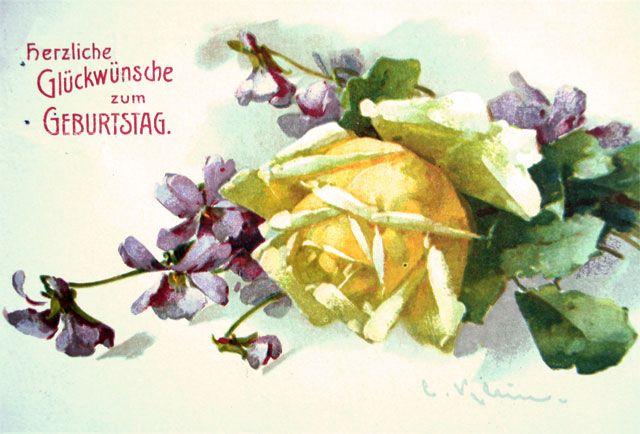 carte de catharina klein - cartes d'anniversaire | cartes postales