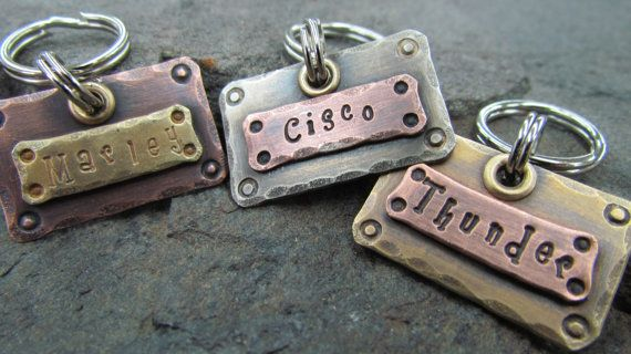 Dog Tag Dog Tags Mixed Metals Personalized Pet Accessories Pet Id Copper Brass Nickel Small Pet Tag Tags Engraved Personalized Pet Tags Pet Id Tags Pet Accessories