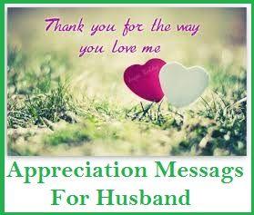 appreciation messages husband thank you messages pinterest