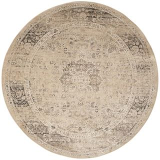 Safavieh Vintage Warm Beige Viscose Rug (8' Round) | Overstock.com Shopping - The Best Deals on Round/Oval/Square