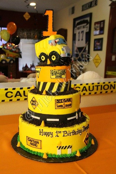 Construction Theme 1st Birthday Cakes Parties 2nd