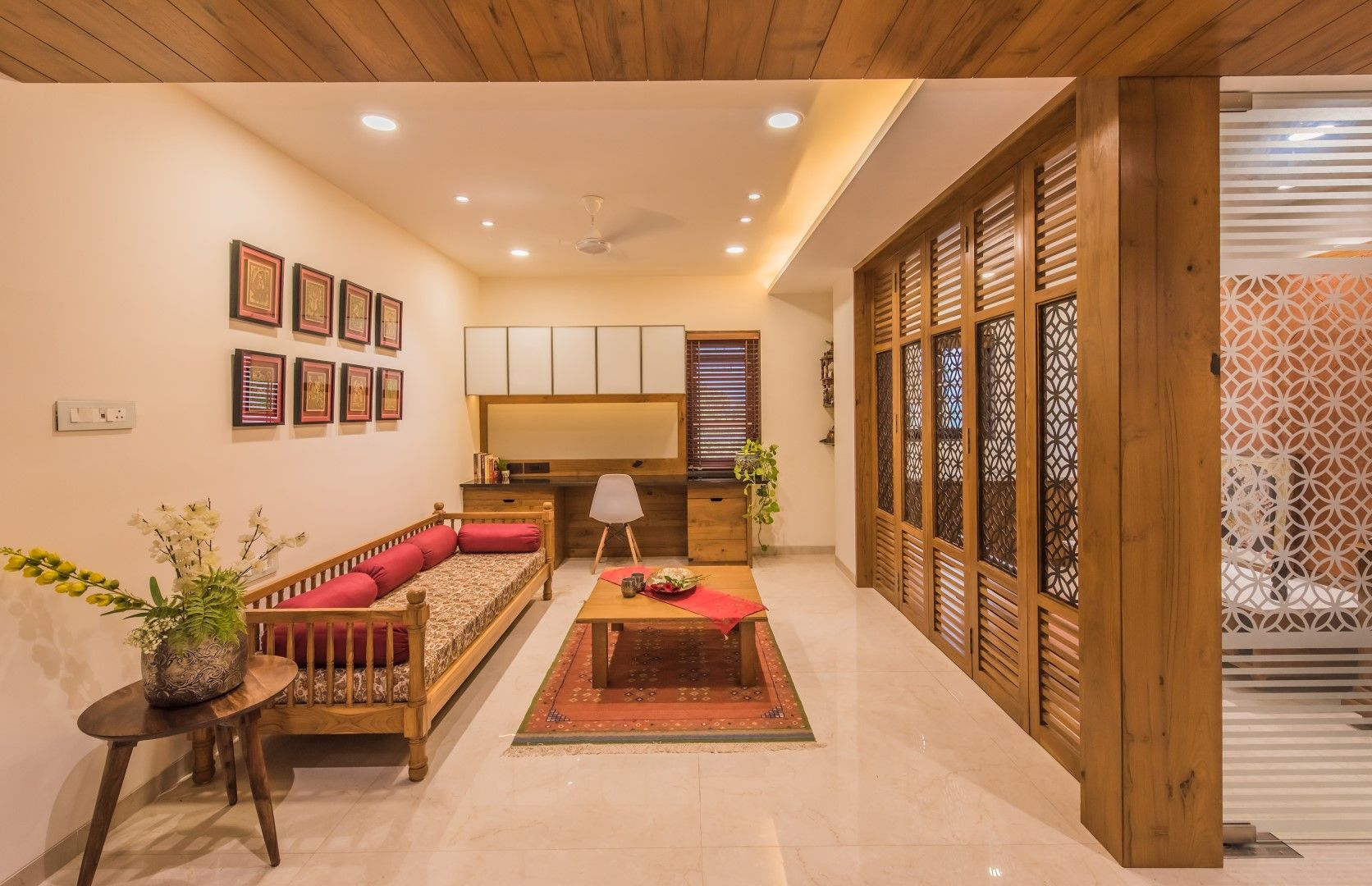 Contemporary Indian Style Apartment Interiors | Indian ...