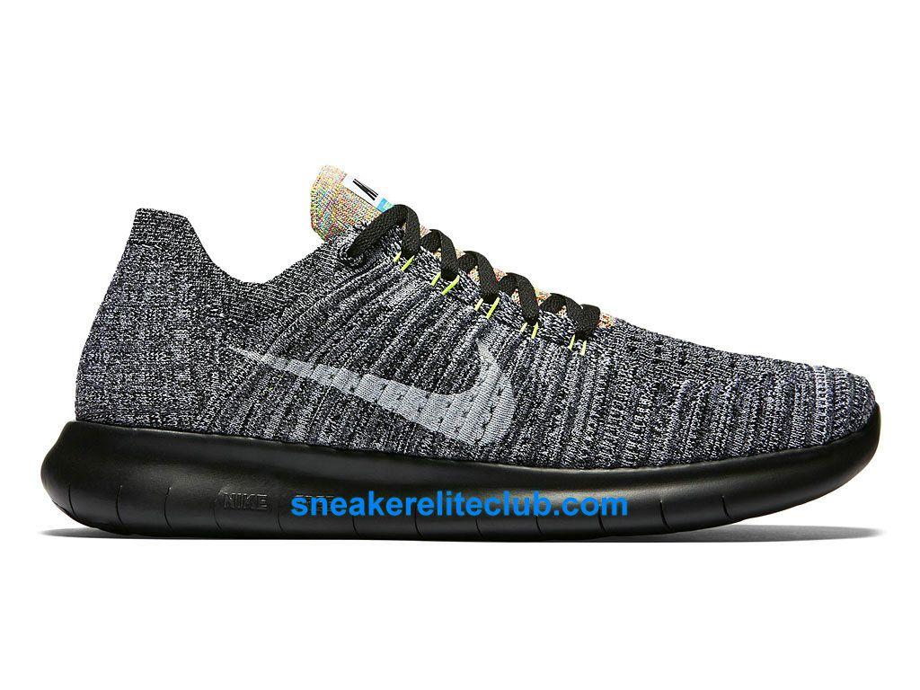 separation shoes f8da5 06adf ... Nike Free RN Motion Flyknit Prix - Chaussures De Running Pas Cher Pour  Homme Noir ...