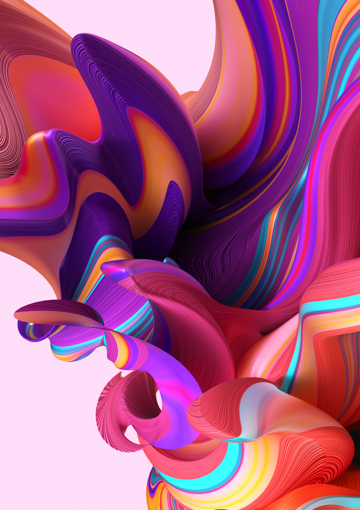 Gradient Flow Lines on Behance (With images) Crystal