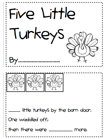 FREE. Cut and Paste math activity for numbers 1 to 10 on Turkeys ...