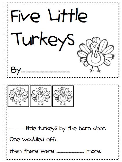 Number Names Worksheets : turkey math activities for kindergarten ...