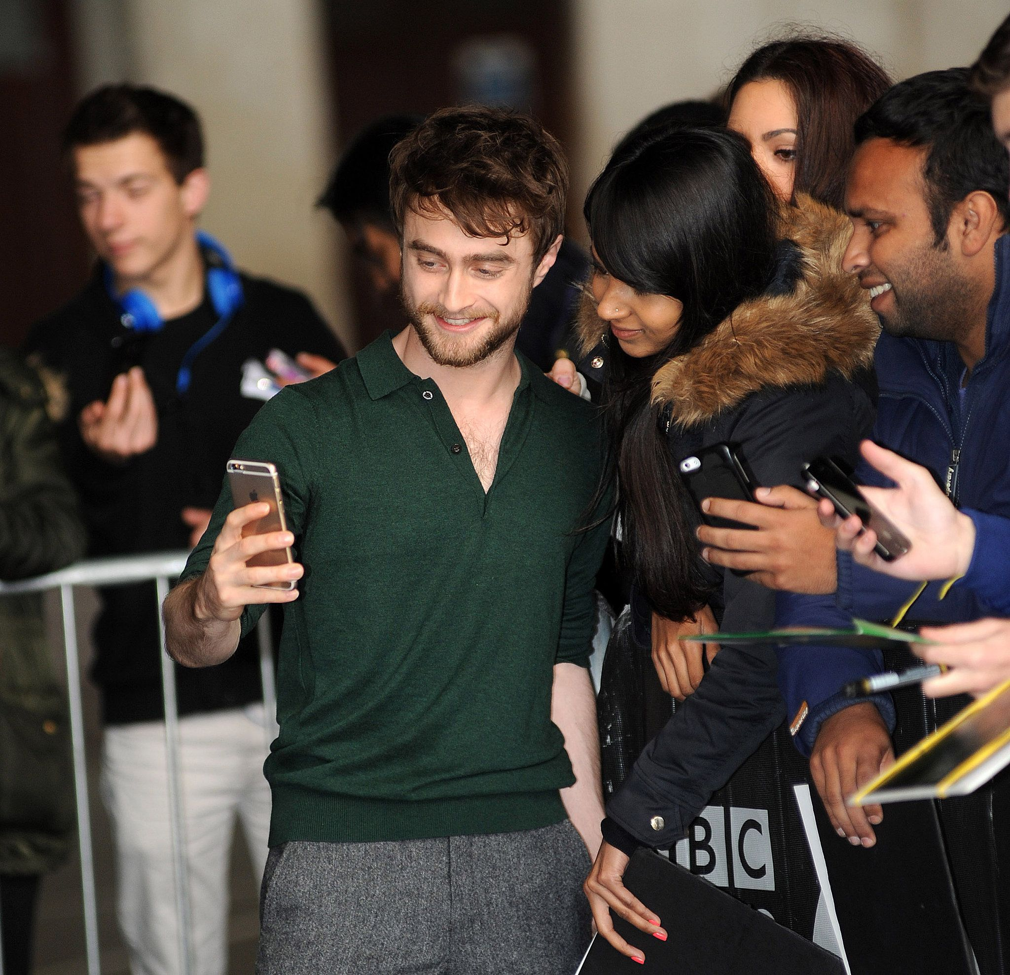 Daniel Radcliffe was out and about in London to promote his movie Horns.