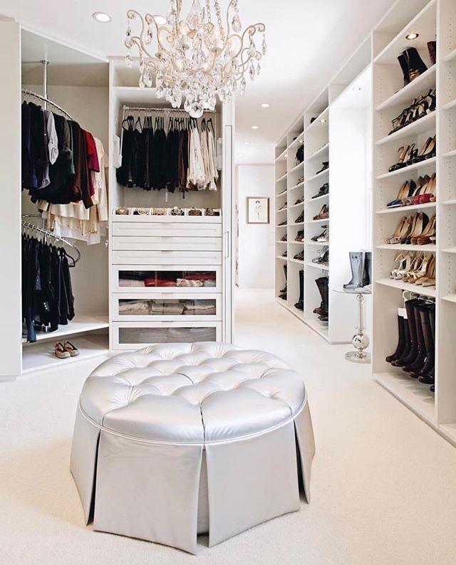 Designer Homeinterior Design: Glam Closet Love This! . . . . Credit : @laclosetdesign