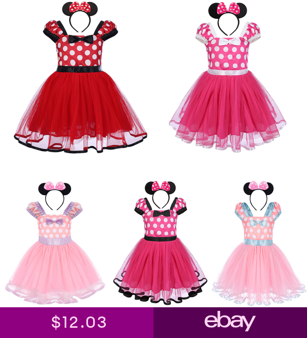 Minnie Mouse Costume Girls Polka Dot Party Birthday