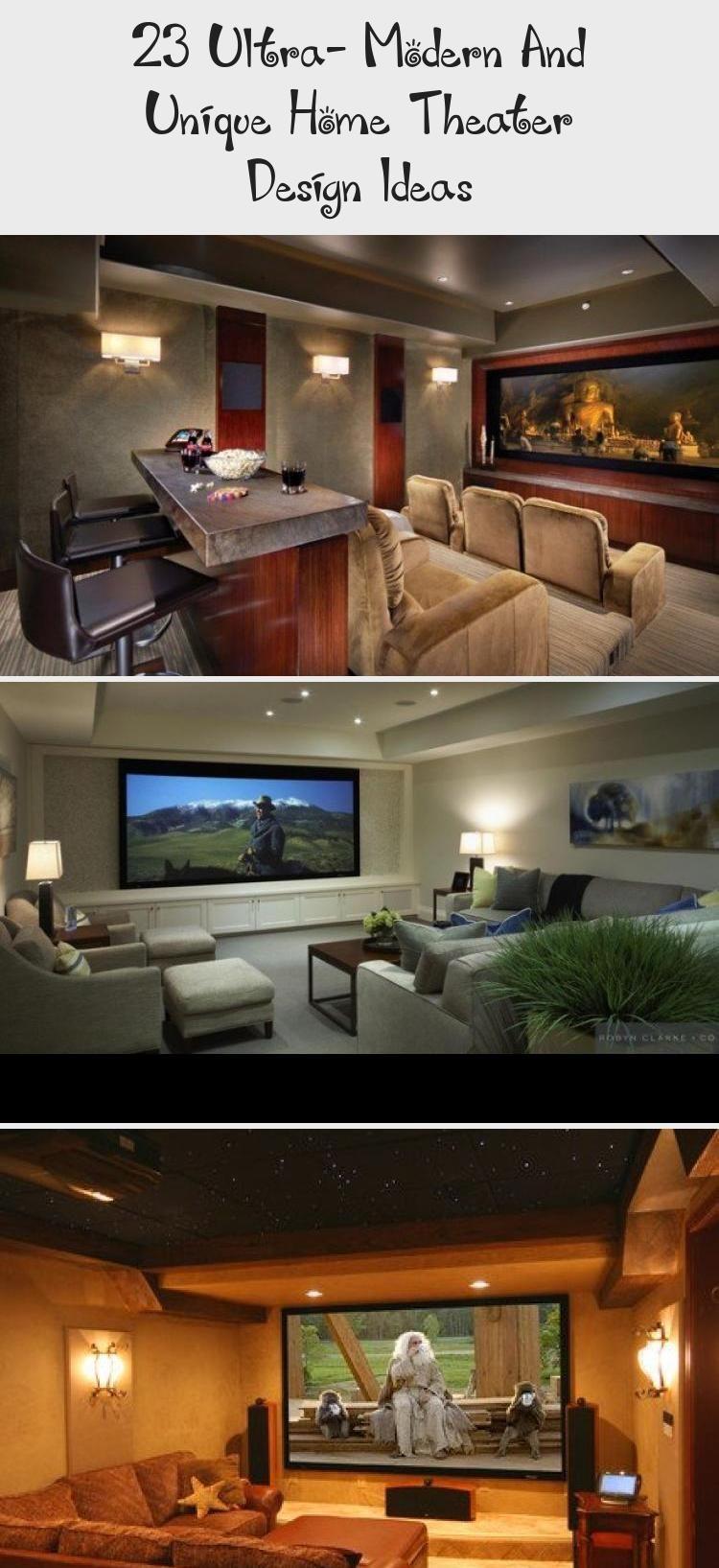 23 Ultra Modern And Unique Home Theater Design Ideas Design 23