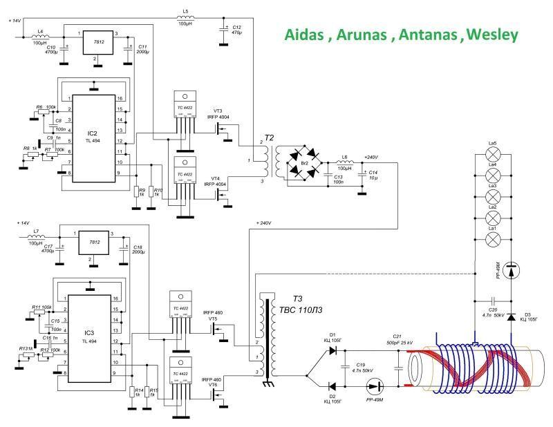 Selfrunning Free Energy 5 KW Kapanadze 1 - schematic | Free energy ...
