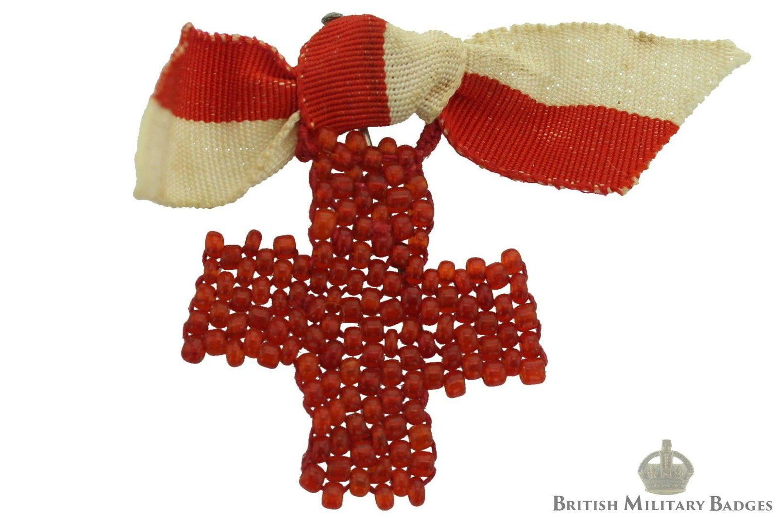 Ww2 War Effort Fundraising Lapel Badge British Red Cross Society