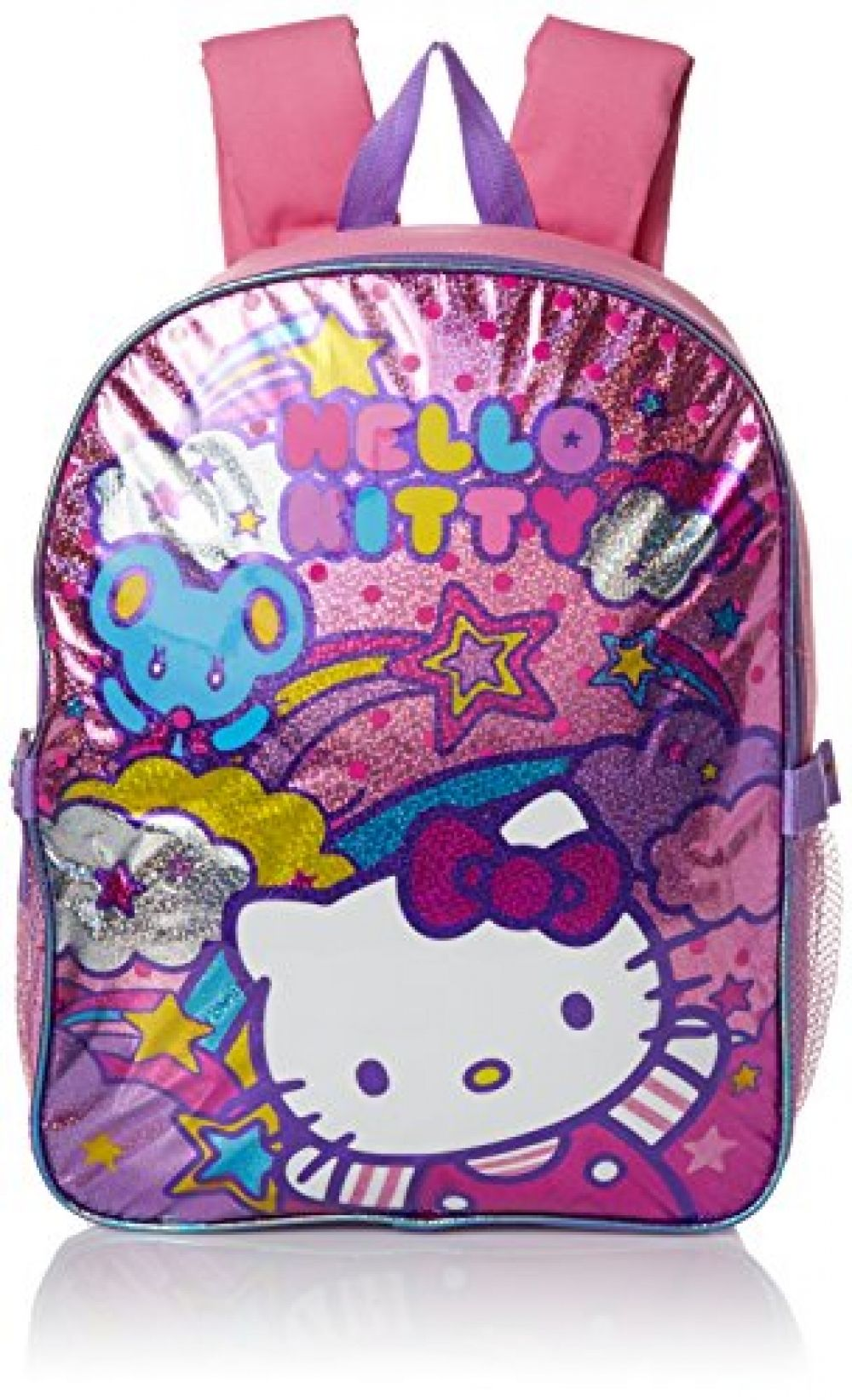 dc534dccb9 Hello Kitty Girls  Stars and Clouds 15 Inch Backpack with Lunch Kit ...