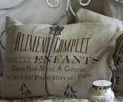 BURLAP !!!!!! / Pude, sofapude, fransk vintage, vintage, interiør, indretning, boligindretning, bolig, design, boligcious