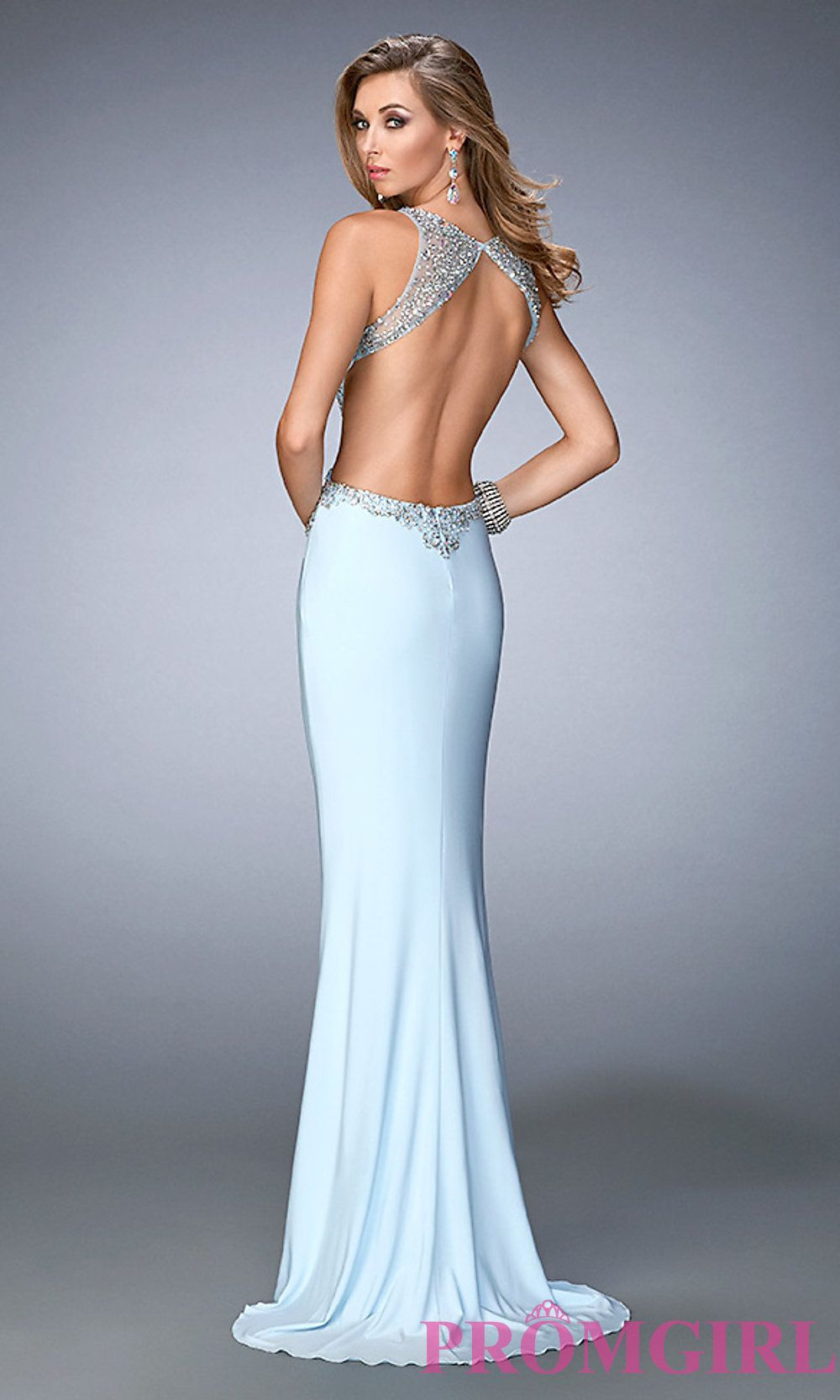 3dc0070028a Image of open-back embellished floor-length Gigi prom dress Style  LF-22642  Back Image