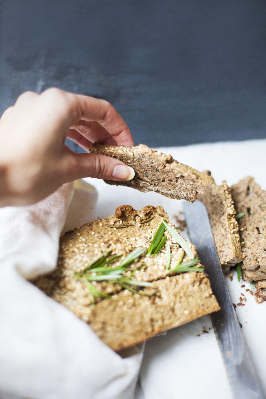 Ihana rosmariini-siemenleipä (g) 100 g saksanpähkinöitä 100g mantelijauhoja 50g pellavansiemeniä 70g kurpitsansiemeniä 2 rkl chian siemeniä 5 kananmunaa 0,5 dl luomu voita n.1-2 tl Rosmariininlehtiä 1 tl merisuolaa  Sekoita kaikki ainekset tasaiseksi blenderillä/monitoimikoneella ja laita leipävuokaan. Itse käytin silikonista vuokaa, joten sitä ei tarvinnut voidella. Paista uunissa 170 asteessa noin tunnin ajan.