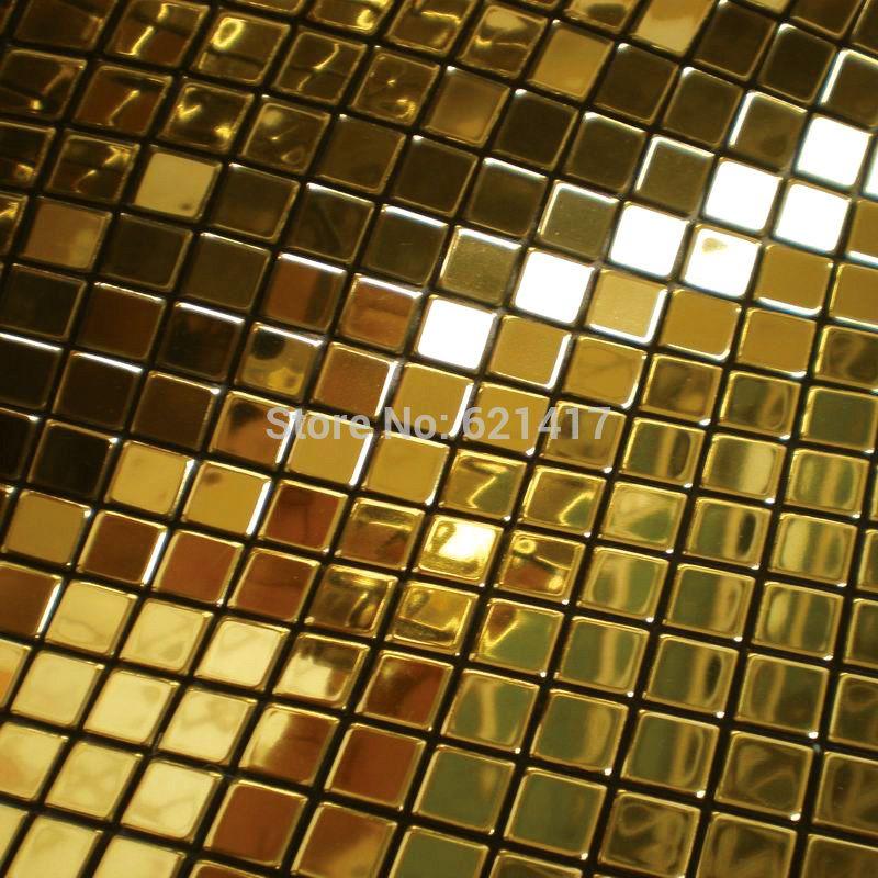 M tal dor mosa que miroir en aluminium plaque en plastique feuille d 39 or carreaux de mosa que - Plaque en aluminium pour cuisine ...