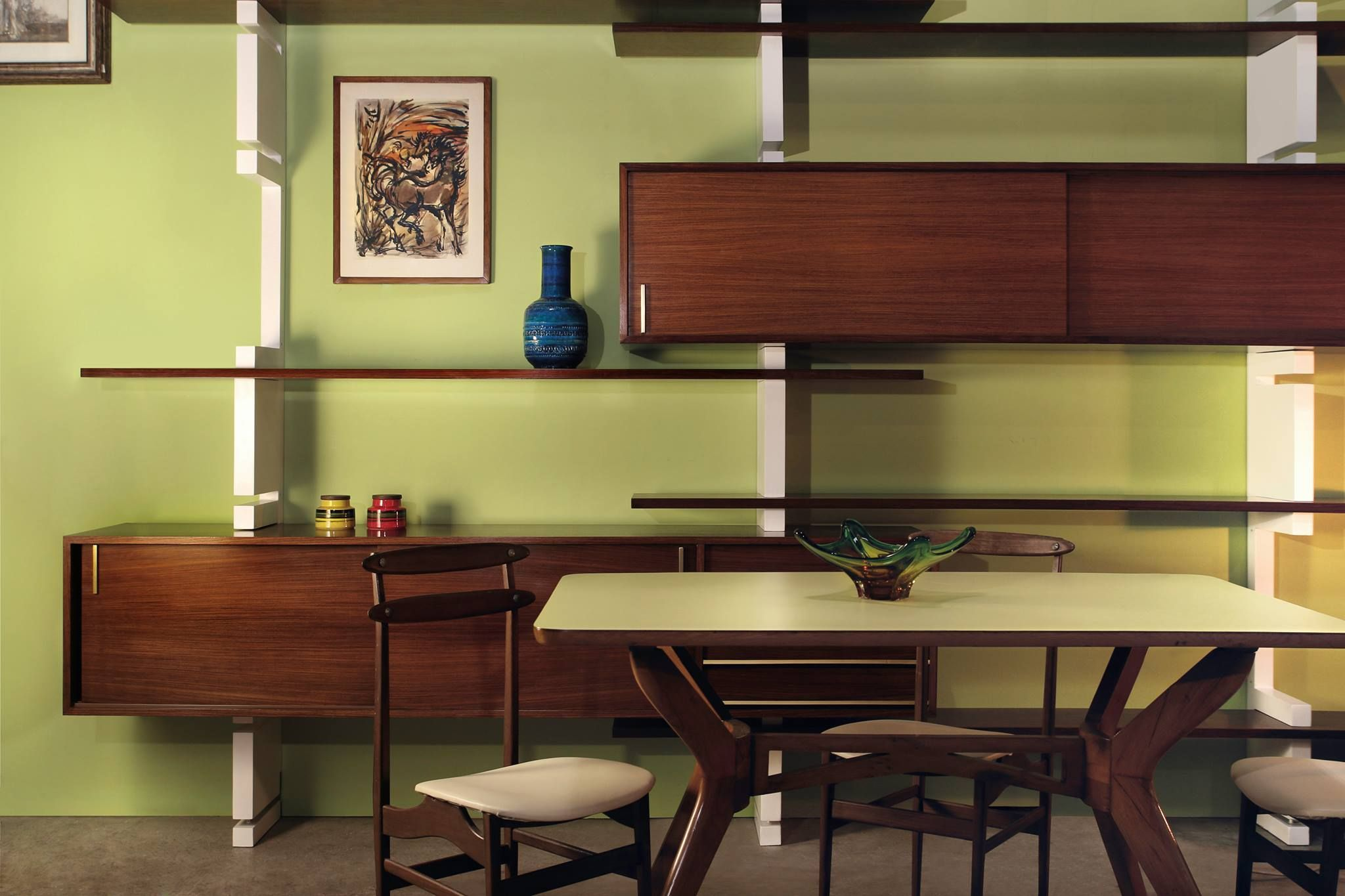 Sedie Vintage Anni 50 : Home decor: libreria anni 50 60 tavolo e sedie vintage di design