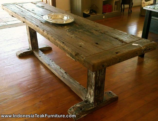 Reclaimed wood pub tables bt2 19 bali furniture for Buy reclaimed wood online