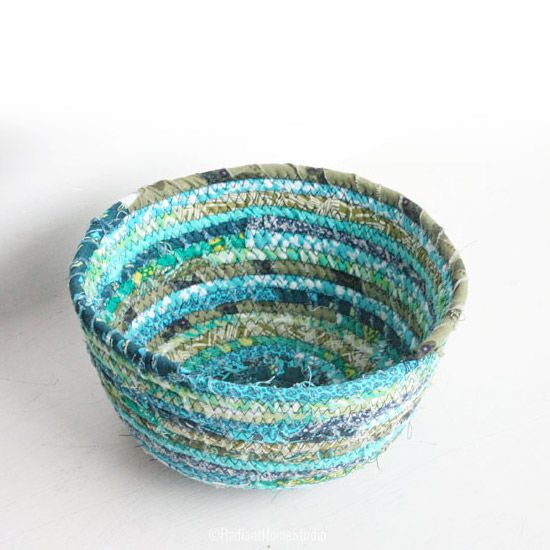 Coiled Rag Rug Instructions: Here's A List Of Fabric Scrap Bowl Tutorials I Have
