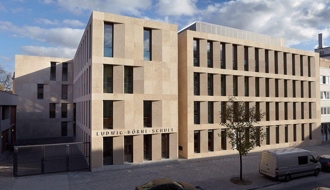 Fassade Architektur ludwig börne schule dbn architekten büro augsburg