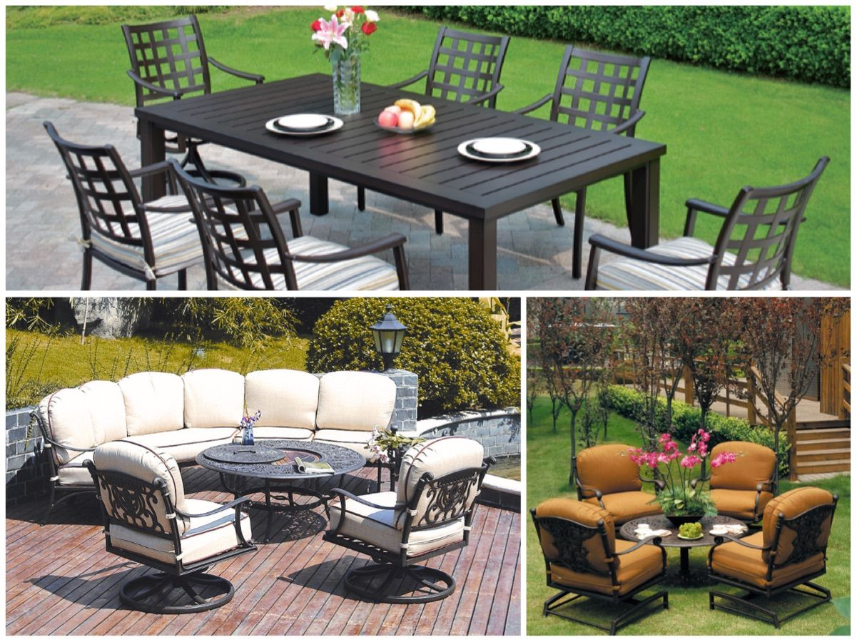 modern aluminum in pin cast set toronto design furniture patio a luxury aura with conversation