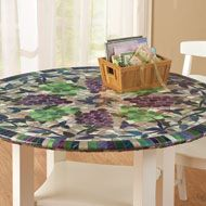 Vinyl Elasticized Fitted Tablecloth Table Covers Table Linens Table Cloth