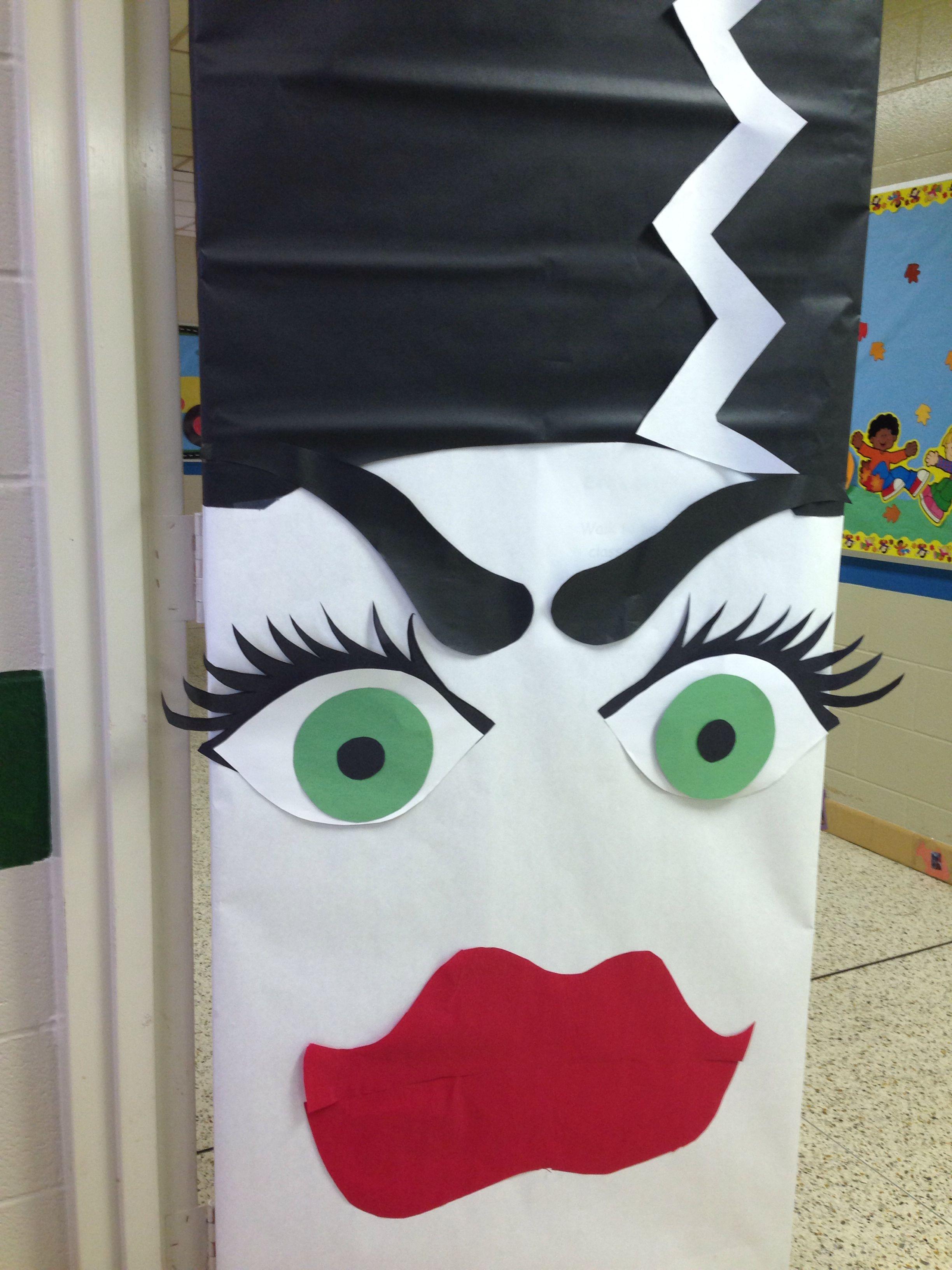 Bride of Frankenstein door decoration- cute! | Fabulous ...