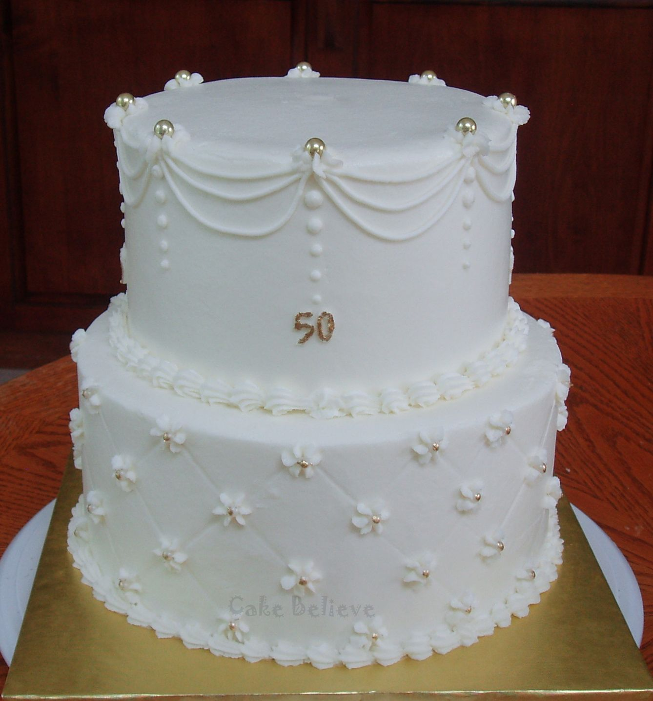 Lovely Cake For A Anniversary Food 50th Wedding